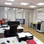 interior oficina produccion