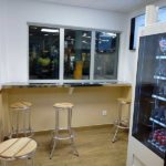 sala cafe en oficinas de producción