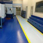 pintado suelo y pasillos en nave industrial