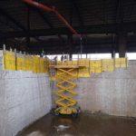 encofrado madera bomba muro hormigón armado Cantabria